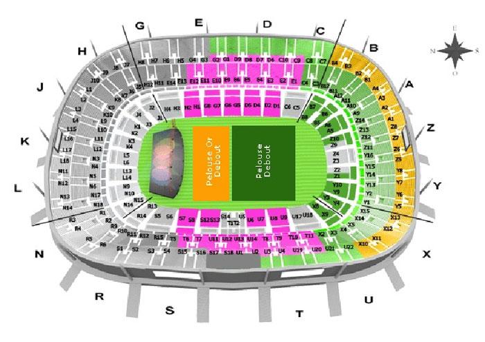 Harta Stade de France Concert Eminem la Paris