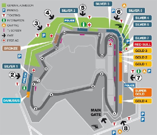 Harta circuit Hungaroring Ungaria