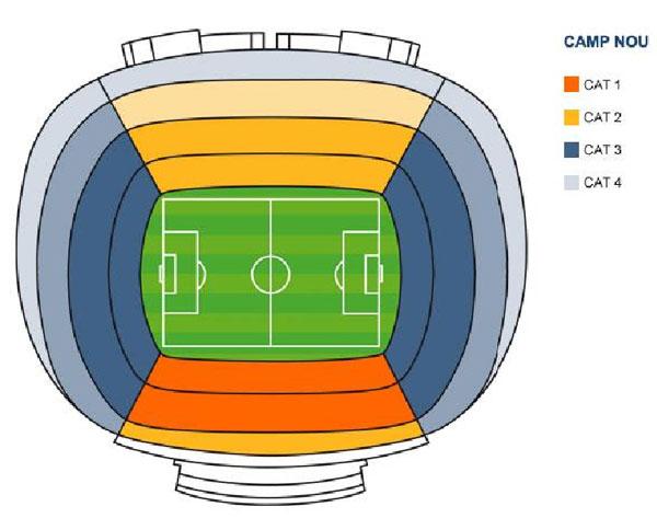 stadionul camp nou harta